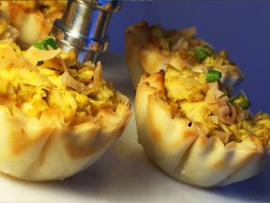 Curried Chicken Phyllo Cups