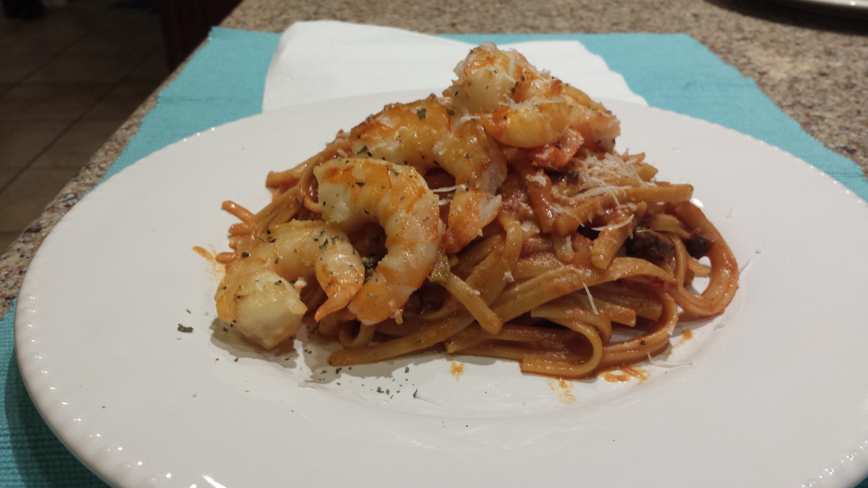 Shrimp Pasta with Spicy Sun-Dried Tomatoes