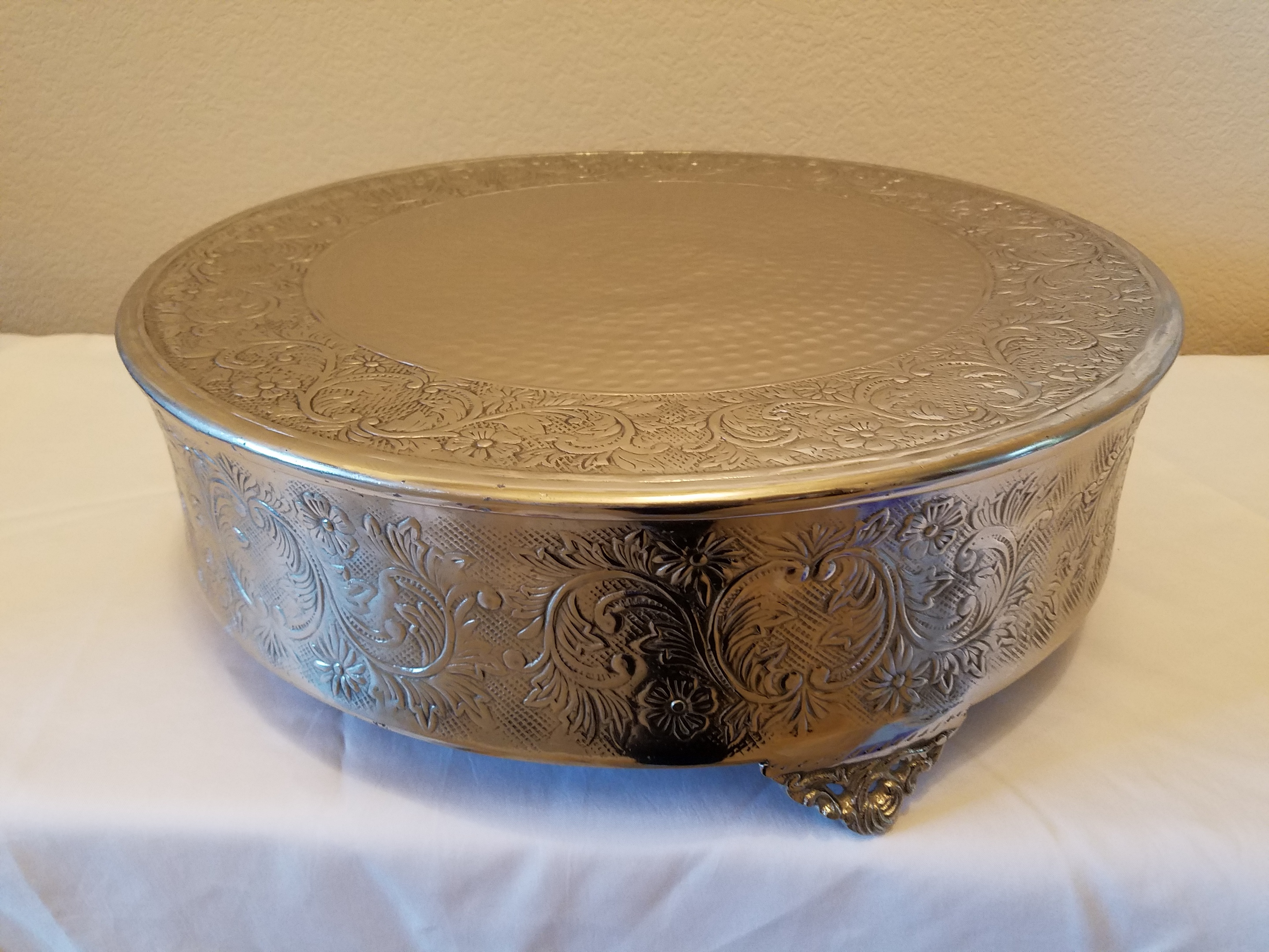 """18"""" Silver Cake Stand"""